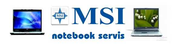 Notebooky MSI servis